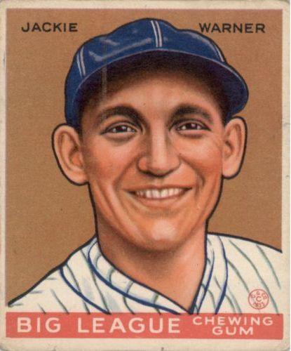 1933 Goudey #178 Jackie Warner RC