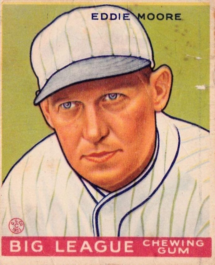 1933 Goudey #180 Eddie Moore RC