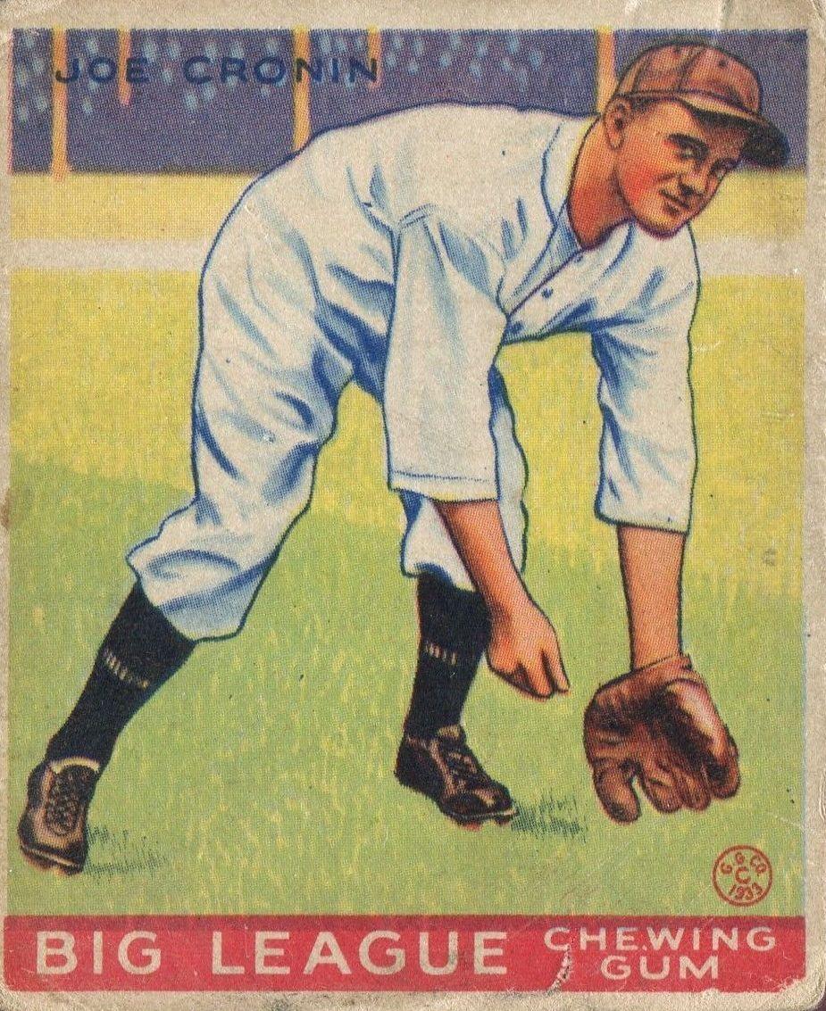 1933 Goudey #189 Joe Cronin RC