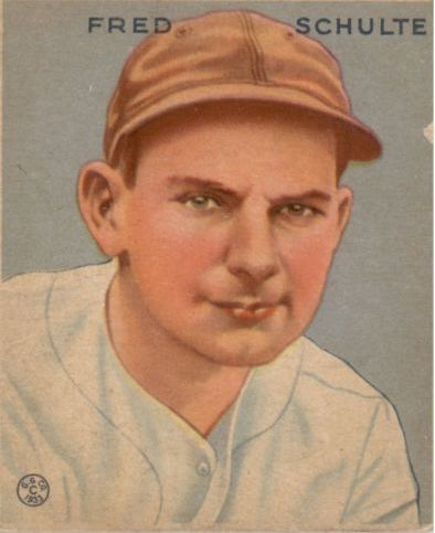1933 Goudey #190 Fred Schulte RC
