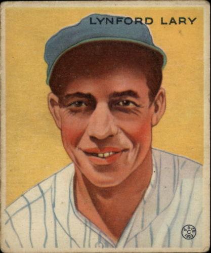 1933 Goudey #193 Lynford Lary RC