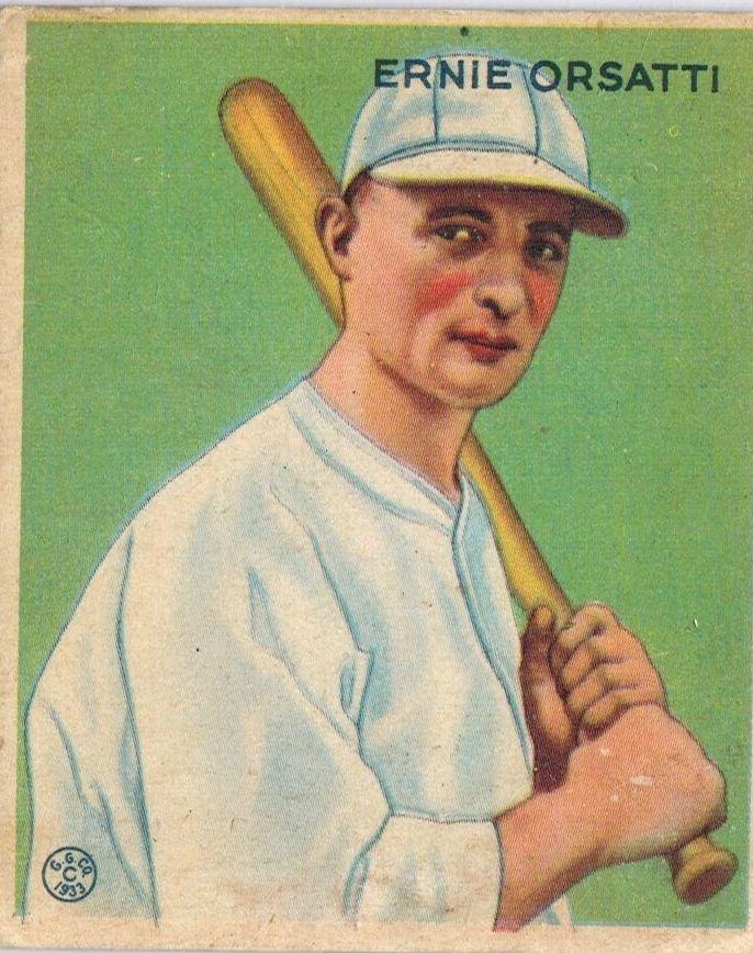 1933 Goudey #201 Ernie Orsatti RC