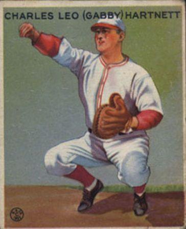 1933 Goudey #202 Gabby Hartnett RC