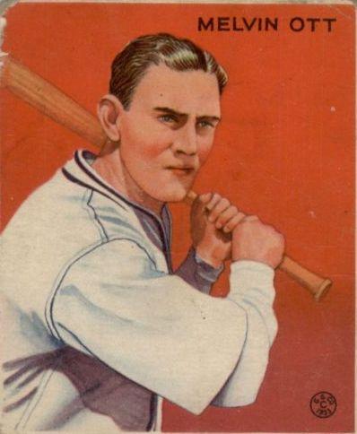 1933 Goudey #207 Mel Ott Bat RC