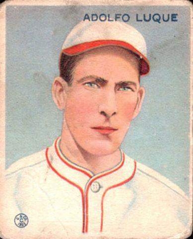 1933 Goudey #209 Adolfo Luque RC