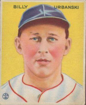 1933 Goudey #212 Billy Urbanski RC