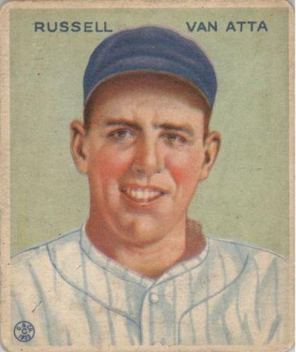 1933 Goudey #215 Russ Van Atta RC