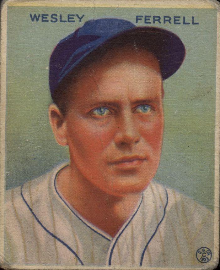 1933 Goudey #218 Wes Ferrell RC