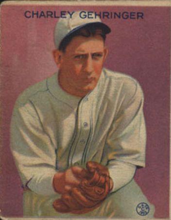 1933 Goudey #222 Charley Gehringer RC