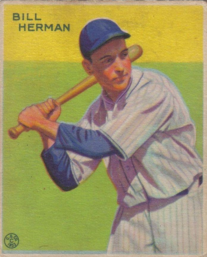 1933 Goudey #227 Bill Herman RC