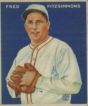 1933 Goudey #235 Fred Fitzsimmons PIT RC