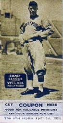 1933 Zeenut (Sepia) #6 Oscar Vitt