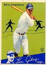1934 Goudey #9 Ben Chapman