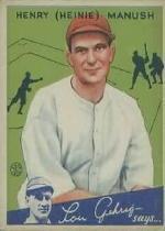 1934 Goudey #18 Heinie Manush