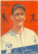 1934 Goudey #27 Luke Appling RC