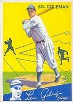 1934 Goudey #28 Ed Coleman RC