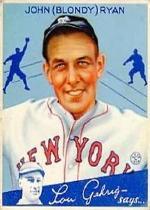 1934 Goudey #32 Blondy Ryan RC