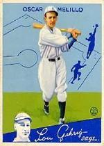 1934 Goudey #45 Oscar Melillo RC