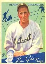 1934 Goudey #62 Hank Greenberg RC