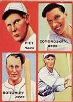 1935 Goudey 4-in-1 #24-1 Tony Piet/Adam Comorosky/Jim Bottomley/Sparky Adams/1H (Detroit Tigers Puzzle)