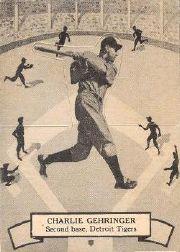 1937 O-Pee-Chee Batter Ups V300 #112 Charlie Gehringer