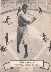 1937 O-Pee-Chee Batter Ups V300 #124 Joe Cronin
