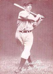 1939-46 Exhibits Salutation #13 Joe DiMaggio/Cordially