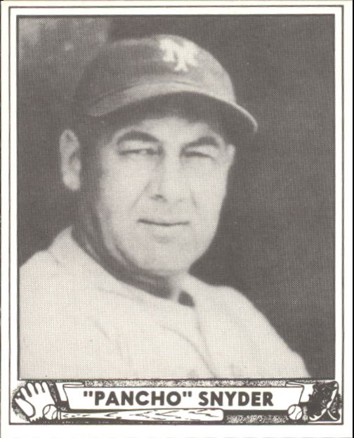 1940 Play Ball #159 Pancho Snyder RC