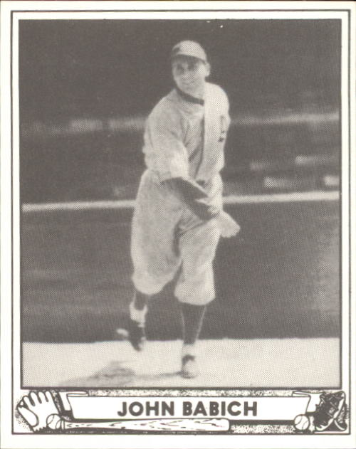 1940 Play Ball #191 John Babich RC