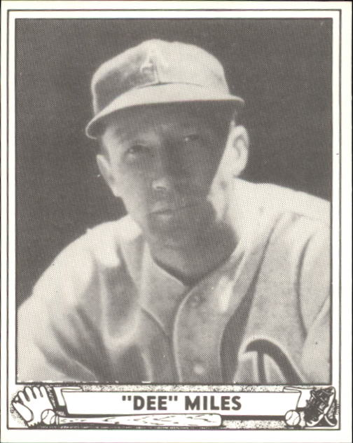 1940 Play Ball #195 Dee Miles RC