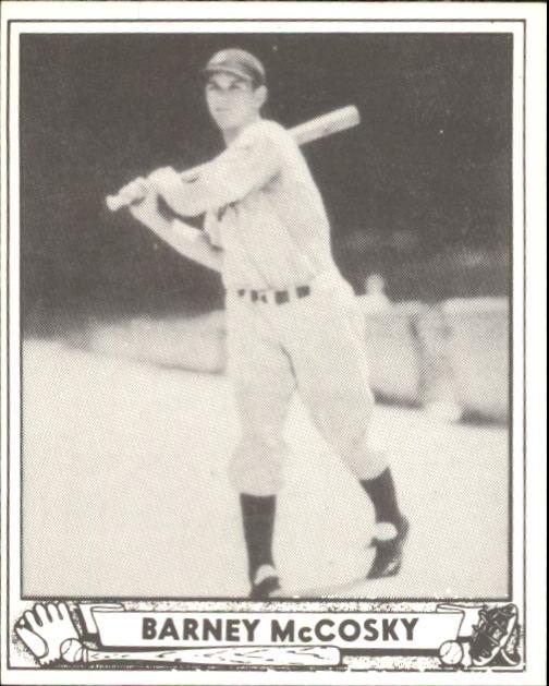 1940 Play Ball #201 Barney McCosky RC