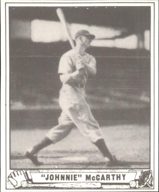 1940 Play Ball #215 Johnnie McCarthy RC