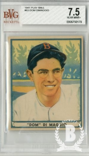 1941 Play Ball #63 Dom DiMaggio RC