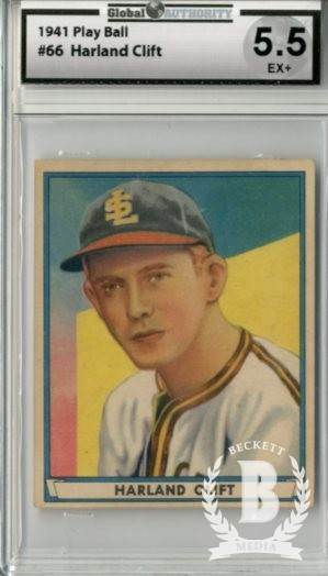 1941 Play Ball #66 Harland Clift RC