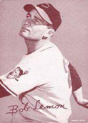1947-66 Exhibits #132A Bob Lemon/left arm not shown