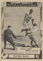 1948 Swell Sport Thrills #17 Football Block: Johnny/Lindell's Football/Block
