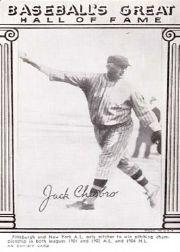 1948 Exhibit Hall of Fame #4 Jack Chesbro