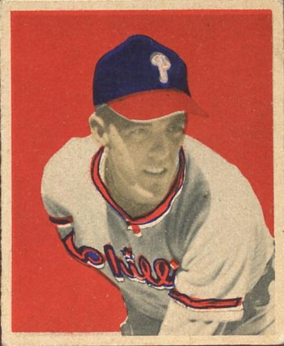 1949 Bowman #14 Curt Simmons RC