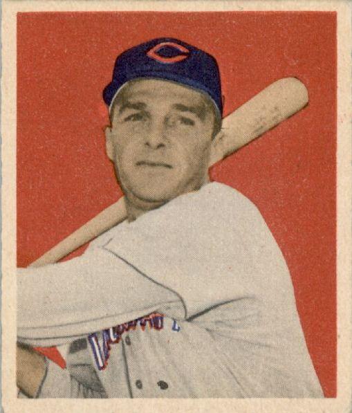 1949 Bowman #21 Frank Baumholtz RC