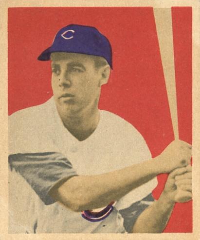 1949 Bowman #22 Peanuts Lowrey RC