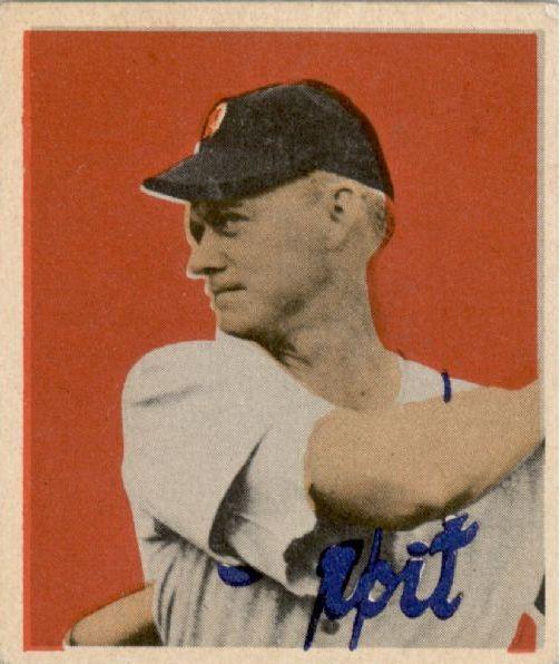 1949 Bowman #42 Hoot Evers RC