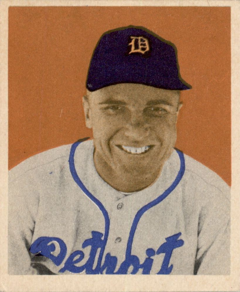 1949 Bowman #75 Eddie Mayo RC