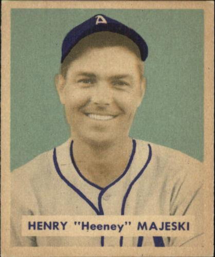 1949 Bowman #127B Hank Majeski Print(player name in print on back)