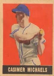 1949 Leaf #13 Cass Michaels SP RC