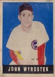 1949 Leaf #19 Johnny Wyrostek SP