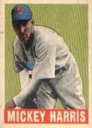 1949 Leaf #27 Mickey Harris RC