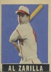 1949 Leaf #36 Al Zarilla SP