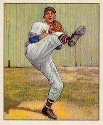 1950 Bowman #19 Warren Spahn