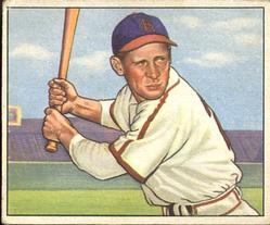 1950 Bowman #36 Eddie Kazak RC