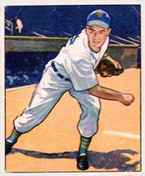 1950 Bowman #42 Art Houtteman RC